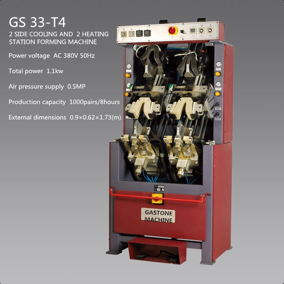 2 SIDE COOLING AND  2 HEATING FORMING MOLDING MACHINE